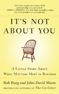 """Worth Reading: """"It's Not About You"""""""